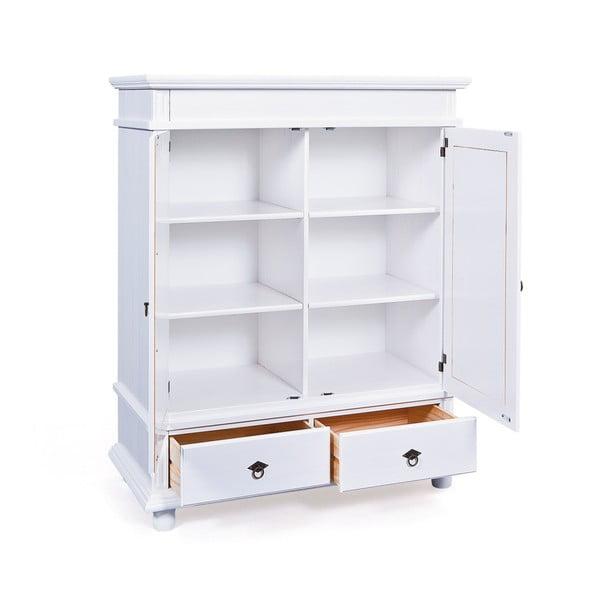Bílá šatní skříň z borovicového dřeva Interlink Danz