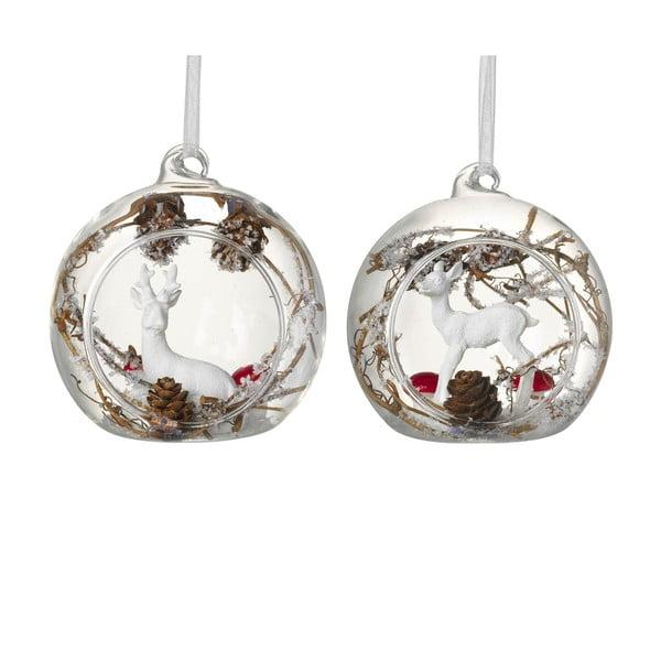 Sada 2 vánočních koulí Parlane Woodland