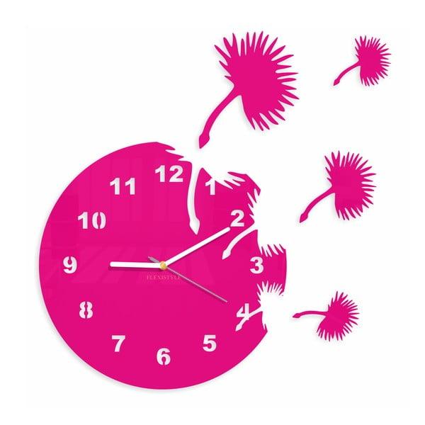 Hodiny z plexiskla Dandelions Pink