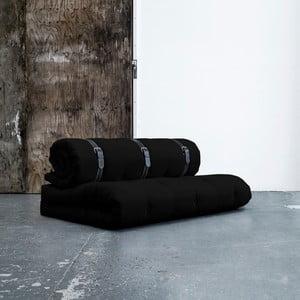 Variabilní pohovka s bíle prošívanými koženými pásky Karup Buckle Up Black