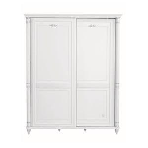 Bílá šatní skříň Romantic Sliding Wardrobe