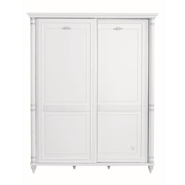 Romantic Sliding Wardrobe fehér ruhásszekrény