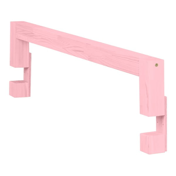 Ružová bočnica zo smrekového dreva k posteli Benlemi Safety, dĺžka 90 cm