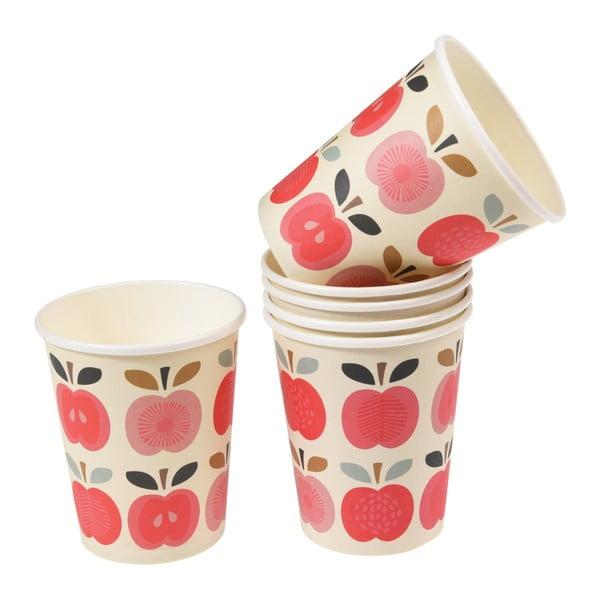 Set 8 pahare din carton Rex London Vintage Apple, 250 ml