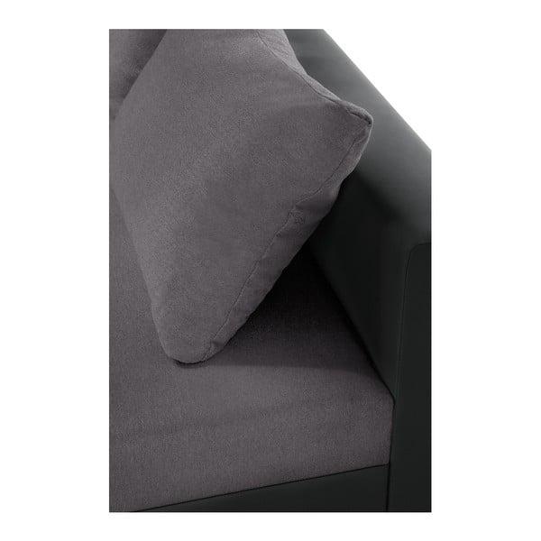 Antracitovo-šedá sedačka Interieur De Famille Paris Aventure, pravý roh