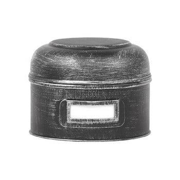 Recipient metalic LABEL51 Antigue, ⌀13cm, negru imagine