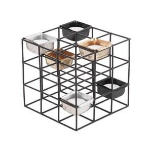 Černý kovový svícen PT LIVING Structure Square