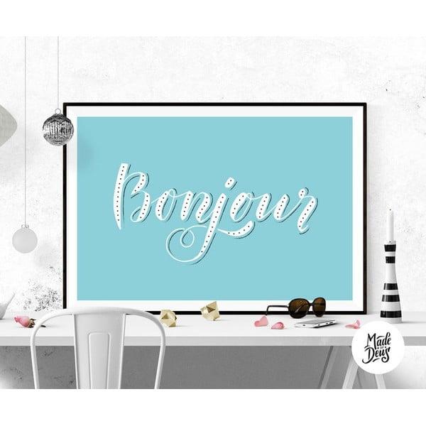 Plakát Bonjour, A2