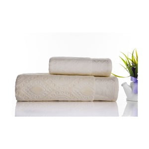 Sada 2ks ručníků Sal Ecru, 50x90 cm a 70x140 cm