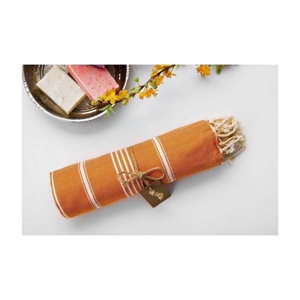 Hamam osuška Sabba Orange, 100x180 cm