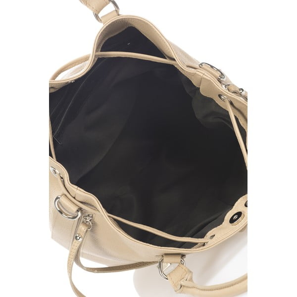 Kožená kabelka Bucketino, taupe