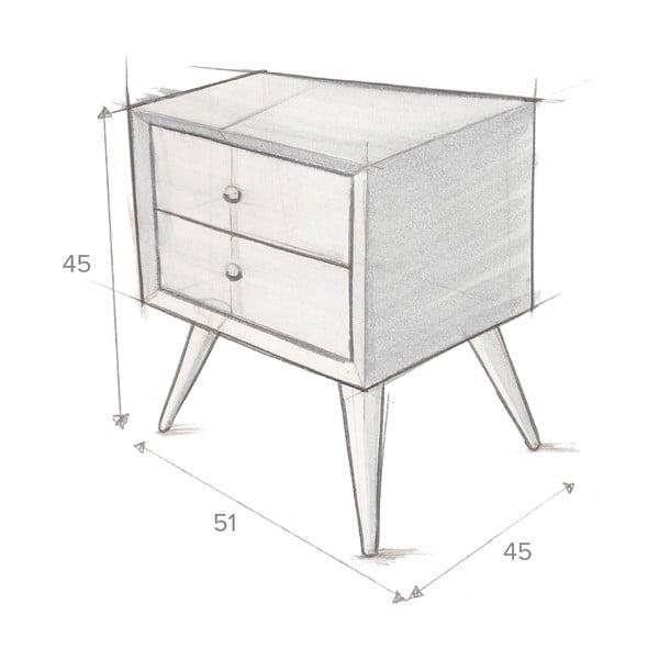 Noční stolek Hawke&Thorn Preston