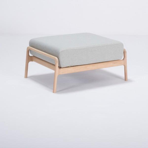 Modrosivá podnožka s konštrukciou z dubového dreva Gazzda Fawn