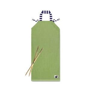 Zelené plážové lehátko Origama Blue Stripes