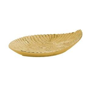 Dekorativní miska vezlaté barvě InArt Golden Leaf, 36x21,5cm