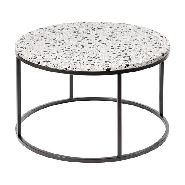 Stolik z kamiennym blatem RGE Bianco, ø 85 cm