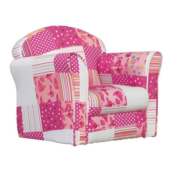 Dětské minikřeslo Pink Patchwork