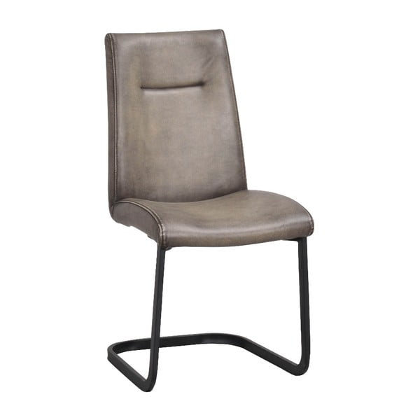 Scaun tapițat cu baza metalică Rowico Elton, gri