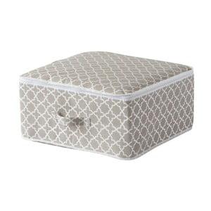 Cutie pentru depozitare cu fermoar Compactor, lungime 46 cm, bej