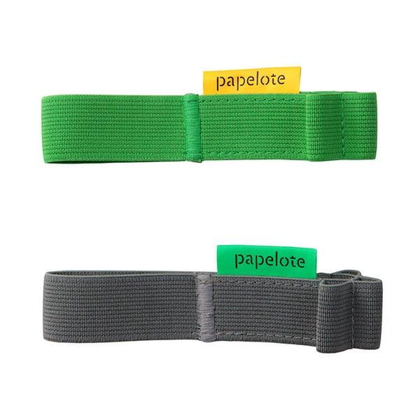Sada dvou gumiček A6 na tužky, šedá a zelená