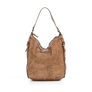 Béžová kožená kabelka Just B Different Lyra