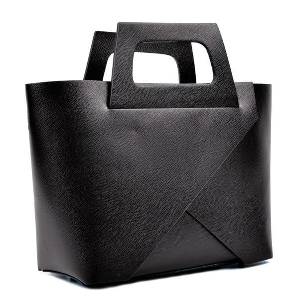Poșetă din piele Carla Ferreri Cross, negru