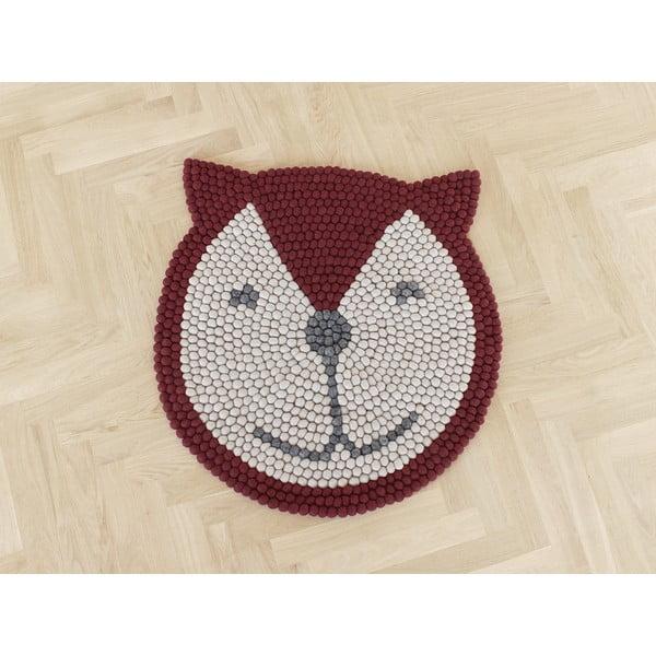 Dětský kuličkový vlněný koberec Wooldot Ball Rugs Fox, ⌀ 90 cm