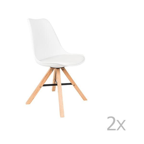 Set 2 scaune White Label Kell, alb