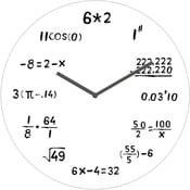 Skleněné hodiny Výpočty, 30 cm