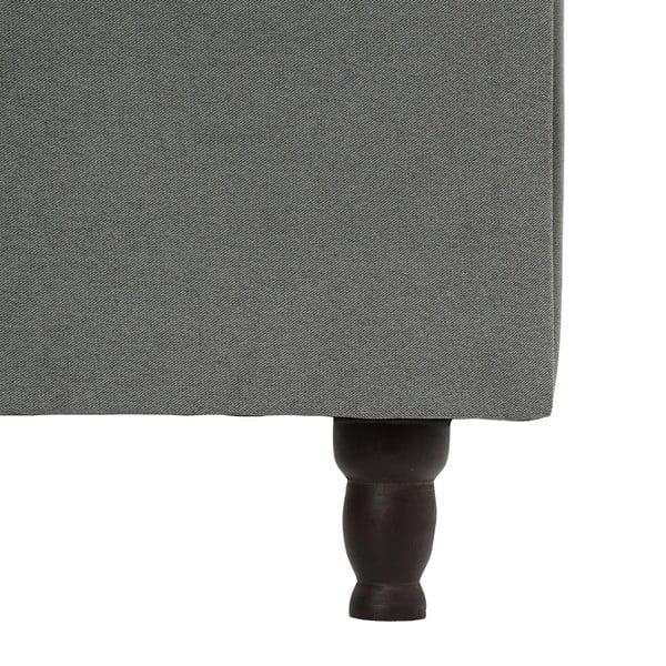 Světle šedá postel s černými nohami Vivonita Allon,160x200cm