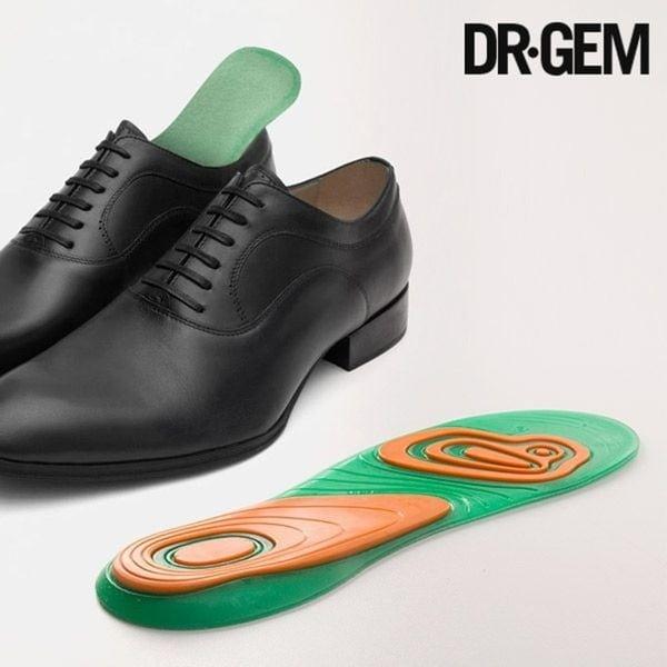 Zielono-pomarańczowe żelowe wkładki do butów InnovaGoods Dr Gem