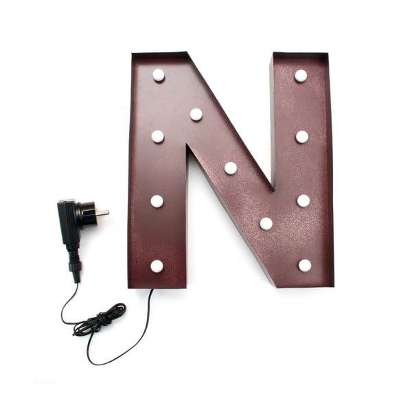 Světelná LED dekorace Letter N