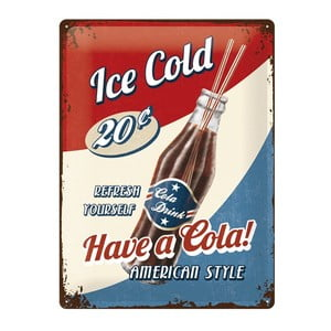 Plechová cedule Ice Cold, 30x40 cm