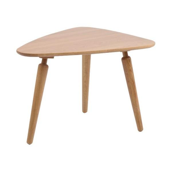 Masă cafea din lemn de stejar Folke Cappuccino, înălțime 53x45x67cm