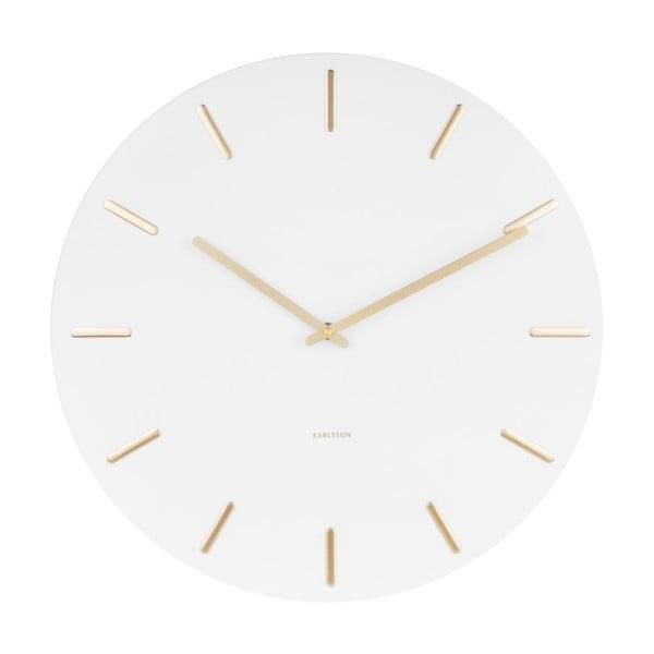 Biały zegar ścienny Karlsson Charm