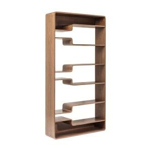 Etajeră din lemn Kare Design Soft Walnut, 110 x 219 cm, maro