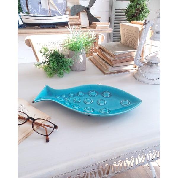 Dekorativní talíř Turquoise Fish