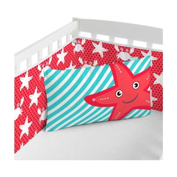 Textilní ohrádka na postýlku Little W Under The Sea, 210x40 cm