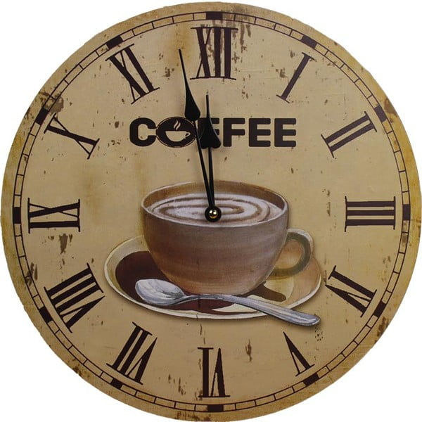 Hodiny Coffee Time, 34 cm