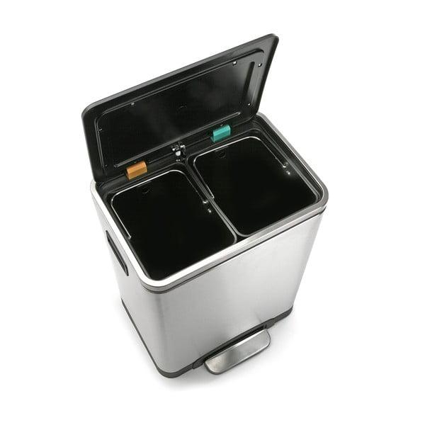 Coș de gunoi cu 2 compartimente Versa Inox