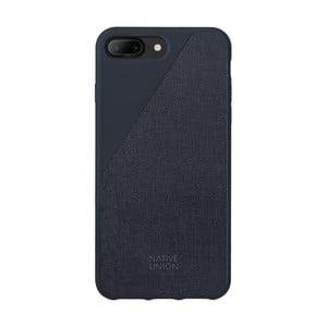Tmavě modrý obal na mobilní telefon pro iPhone 7 a 8 Plus Native Union Clic Canvas Case