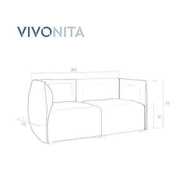 Nebesky modrá dvoumístná modulová pohovka Vivonita Velvet Cube