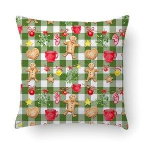Zelený polštář Crido Consulting Gingerbread & Lights, 40 x 40 cm