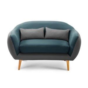 Dvoumístná pohovka Meteore Grey/Turquoise