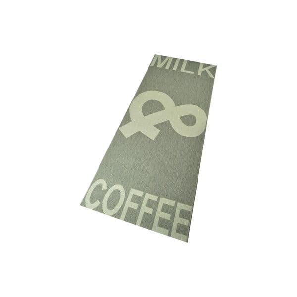 Kuchyňský koberec Milk&Coffee 80x200 cm, šedý
