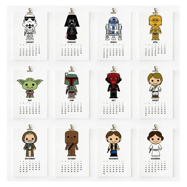 Kalendář na rok 2014 - Star Wars