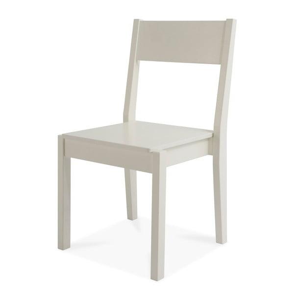Biela ručne vyrobená stolička z masívneho brezového dreva Kiteen Joki