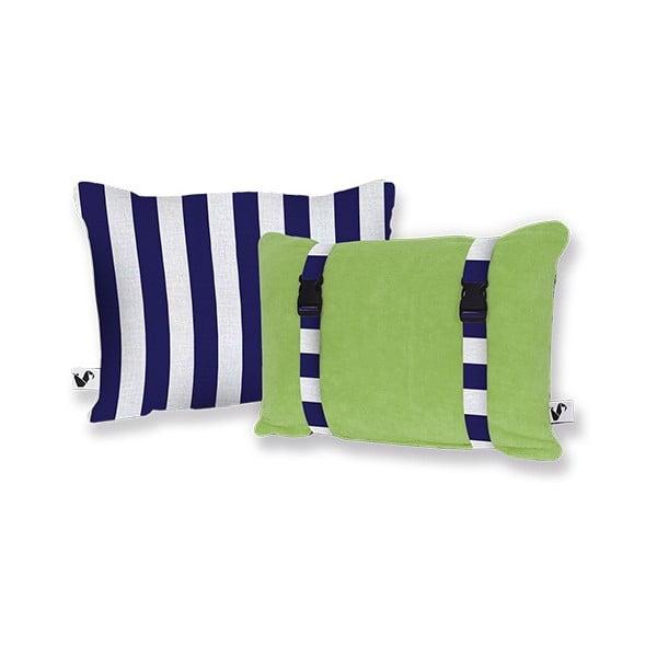 Plážový polštářek Origama Olive Stripes