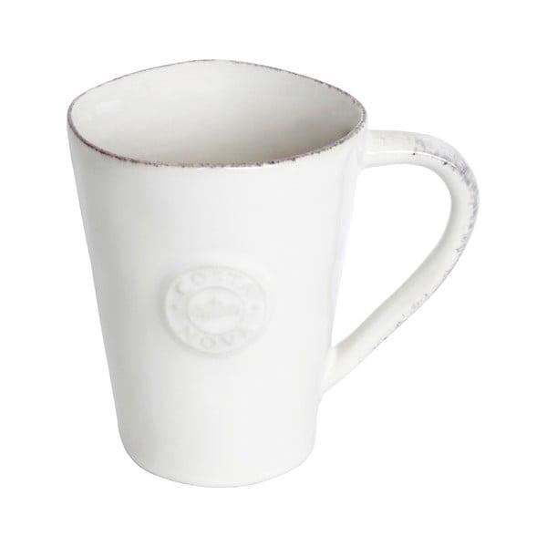Cană din gresie ceramică Costa Nova, 350 ml, alb