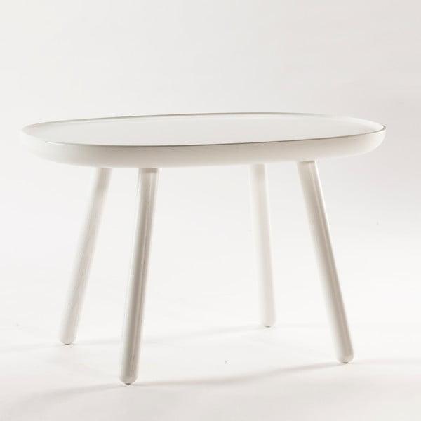 Bílý odkládací stolek z masivu EMKO Naïve Medium
